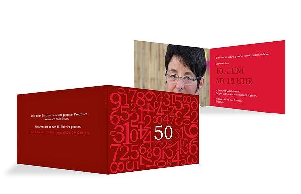 einladung zum 50 geburtstag einladungskarten selbst gestalten. Black Bedroom Furniture Sets. Home Design Ideas